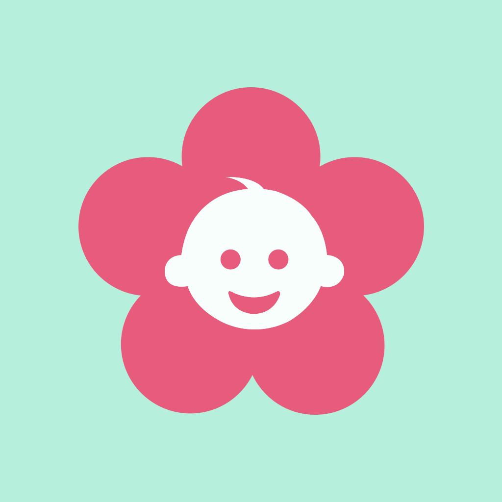 婴儿照片背景花朵素材